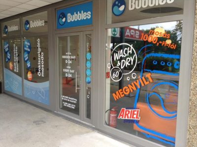 Bubbles-non-stop self-service laundry-XVII.district Budapest